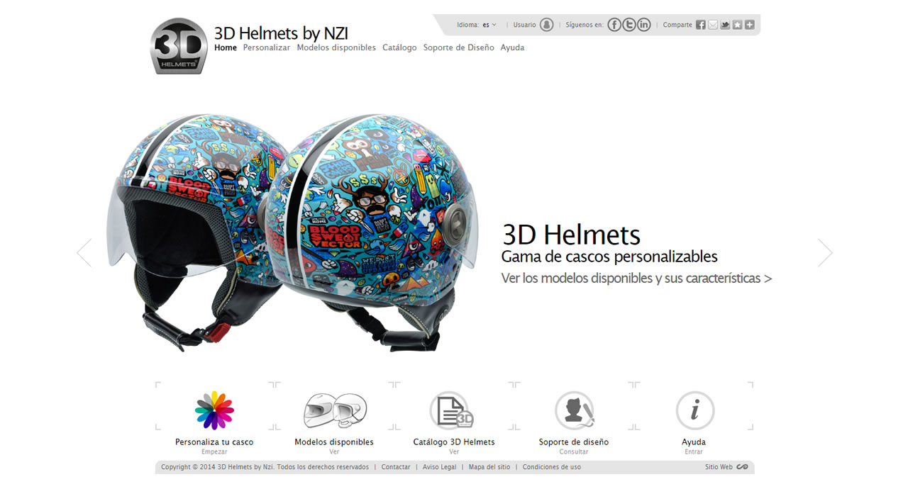 Design your helmet